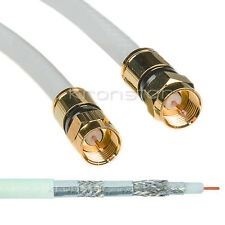 1m Sat Digital TV Kabel 135dB Reines Kupfer Anschlusskabel VDSL 3D ULTRA HD 4K