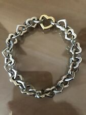 Tiffany & Co 18ct Gold And Sterling Silver, Heart Link Bracelet