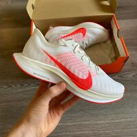 WOMENS NIKE ZOOM PEGASUS TURBO 2 WHITE RED RUNNING TRAINERS UK4.5 US7 EUR38