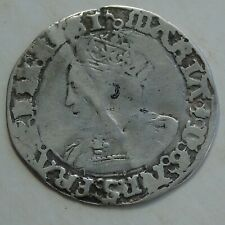 1553-54 Mary Silver Groat Hammered Tudor Coin, crinkle line 24mm 1.81g