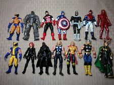 "Hasbro Marvel 3.75"" Figure Lot of 14 Wolverine Black Widow Nick Fury Loki G9"