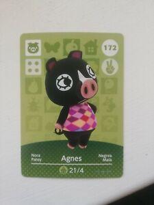 Official Animal Crossing Agnes Amiibo Card - Genuine