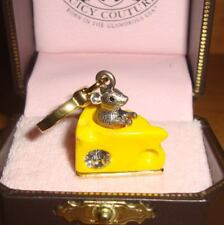 NEW JUICY COUTURE MOUSE AND CHEESE CHARM FOR BRACELET NECKLACE OR HANDBAG
