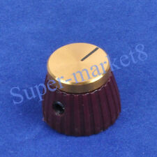 20pcs Marshal JTM JCM Plexi Guitar Tube Amp Volume Knob Gold Top 1/4 6.35 Brown
