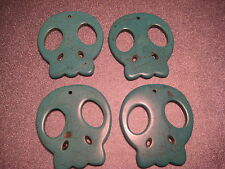 Magnesite Turquoise Skull Pendents 4pc