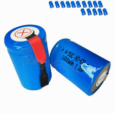 15x 1600mAh Ni-CD 4/5SC SubC Sub C 1.2V Rechargeable Battery with Tab univerisal