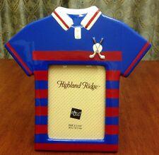 Russ Highland Ridge Golf Shirt Photo Picture Frame Blue Red Boys Kids Room Decor