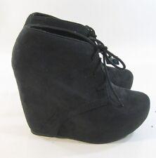 "new Blacks 5""high  hidden wedge heel 1.5""platform ankle sexy boot size  6.5"