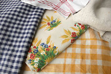 Antique Vintage French fabrics materials ~ orange and blue Project Bundle pack