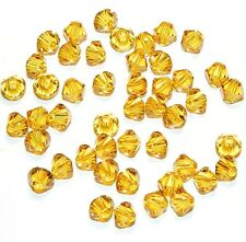 SCB396 Sunflower Yellow 4mm Xilion Faceted Bicone Swarovski Crystal Beads 48pc