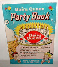 1960 Original Vintage  Dairy Queen Party Book 20 pages Very Hard to find NOS