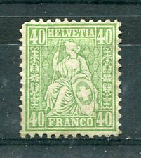 SUISSE - 1862 timbre classique 39, neuf (sg) sans gomme
