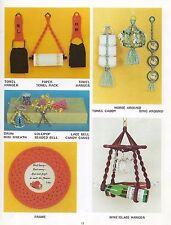 Macrame Wine Bottle & Glass Holder Pattern Judy's Quick N Easy Knots Book PD1047
