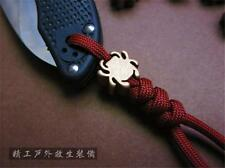 EDC Gear DZ-02 Spyderco Mini Brass Pendant Folding Knife Lanyard Pendants Tool