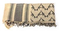 Sciarpa scialle KEFIAH cotone beige nera fantasie, Co/BLACK SHEMAGH SCARF SKULL