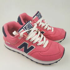 Women's NEW BALANCE '574' Sz 5 US Runners Pink Blue VGCon | 3+ Extra 10% Off