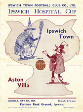 1938/39 Ipswich v Aston Villa (Hospital Cup - Ipswich First League Season)