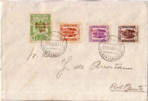 SPAIN - GUINEA ESPAÑOLA 1941 Cover circulated from Bata to Rio Benito