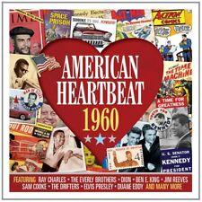 AMERICAN HEARTNEAT 1960 2 CD (Ray Charles, Duane Eddy, Elvis Presley) NEW!