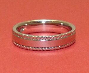 Solid Sterling Silver Band Ring. Sizes N, P, R.