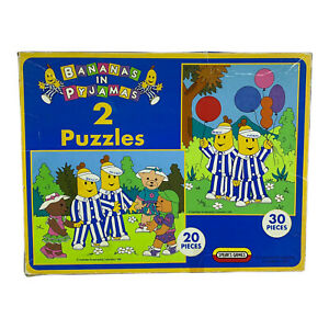 Vintage Bananas in Pyjamas 2 in 1 Puzzle by Spears for the ABC 1995 - Complete