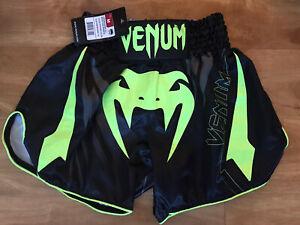 Venum Sharp 3.0 Lightweight Muay Thai Shorts - Black/Neo Yellow Size M