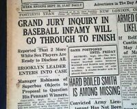 BLACK SOX SCANDAL CASE Chicago White Sox World Series Baseball 1920 Newspaper