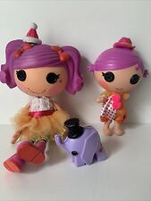 More details for lalaloopsy doll bundle - peanut big top large 12in doll & squirt lil top (700)
