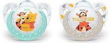 NUK Silikon Schnuller Disney Winnie Kiefergerechte Form 0-6 Monate 2 Stück Set