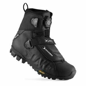 Lake MXZ304 Winter Bicycle Cycle Bike Boots Wide Fit Black