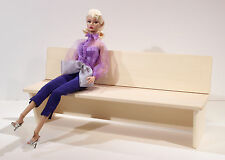 "1/6 Wooden park bench 12"" barbie chair furniture sofa chapel church pew hot toys"