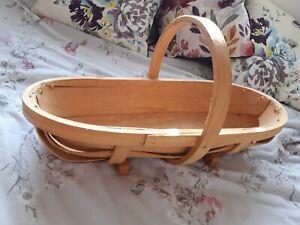 "Large Wooden Trug (23"" x 10"" x 12"")"