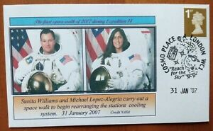 ISS EXPEDITION 14 FIRST SPACEWALK 31/1/2007 FDC Space Cover