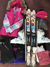 GIRLS SKI PACKAGE: Fischer 110cm, Nordica 23.5 - AWESOME