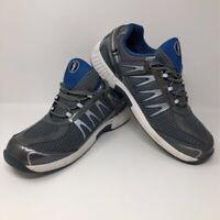 Orthofeet BioFit Mens Sprint Diabetic Walking Shoes Blue Gray 672 Low Top 13 EE