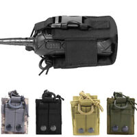 Outdoor Tactical Sport Military Molle Nylon Radio Walkie Talkie Holder Bag Pouch