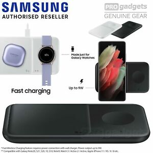 Genuine SAMSUNG Fast Qi Wireless Charger Duo Pad EP-P4300T for S21/Plus/Ultra