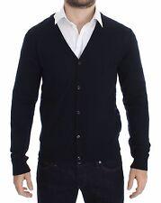 NUEVO GALLIANO Azul Lana Con Botones Logo Jersey Cárdigan Suéter S.S
