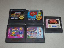 Sega Gamegear Game Cartridge Lot Sonic Sports Trivia Simpsons Space Arch Rivals