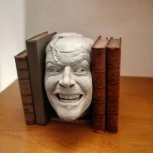 Here's Johnny Sculpture of The Shining Resin Desktop Ornament Bookend Library