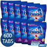 10 x FINISH QUANTUM POWERBALL DISHWASHING TABLETS LEMON DISHWASHER TABS 60 PACK