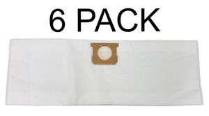 HEPA Filter Bags for Shop Vac 5 6 8 Gallon 90661 Deluxe Filtration 6 PACK