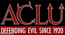 "6"" ACLU DEFENDING EVIL SINCE 1920 HELMET BUMPER CAR STICKER DECAL MADE IN USA"