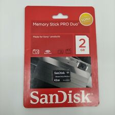SANDISK 2GB MEMORY STICK PRO DUO MEMORY CARD NEW IN PACK