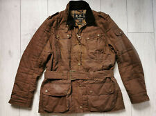 Barbour International Flyweight Quilt Brown Wax 18UK 44EU Womens Shooting Jacket