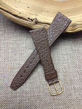20mm BROWN  VINTAGE  HIRSCH   GENUINE SADDLE LEATHER  WATCH BAND   NEW OLD STOCK