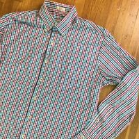 Peter Millar Mens Button Down Shirt Sz Medium Plaid Checkered Casual Dress