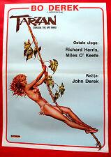 TARZAN THE APE MAN 1981 SEXY BO DEREK RICHARD HARRIS RARE EXYU MOVIE POSTER