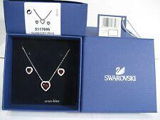 Swarovski Cyndi Red Set, Pendant/Earrings Heart Shaped Authentic 5117696