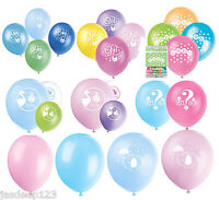 8 Baby Shower Balloons Latex Party Decorations Boy Girl Neutral Helium Pink Blue